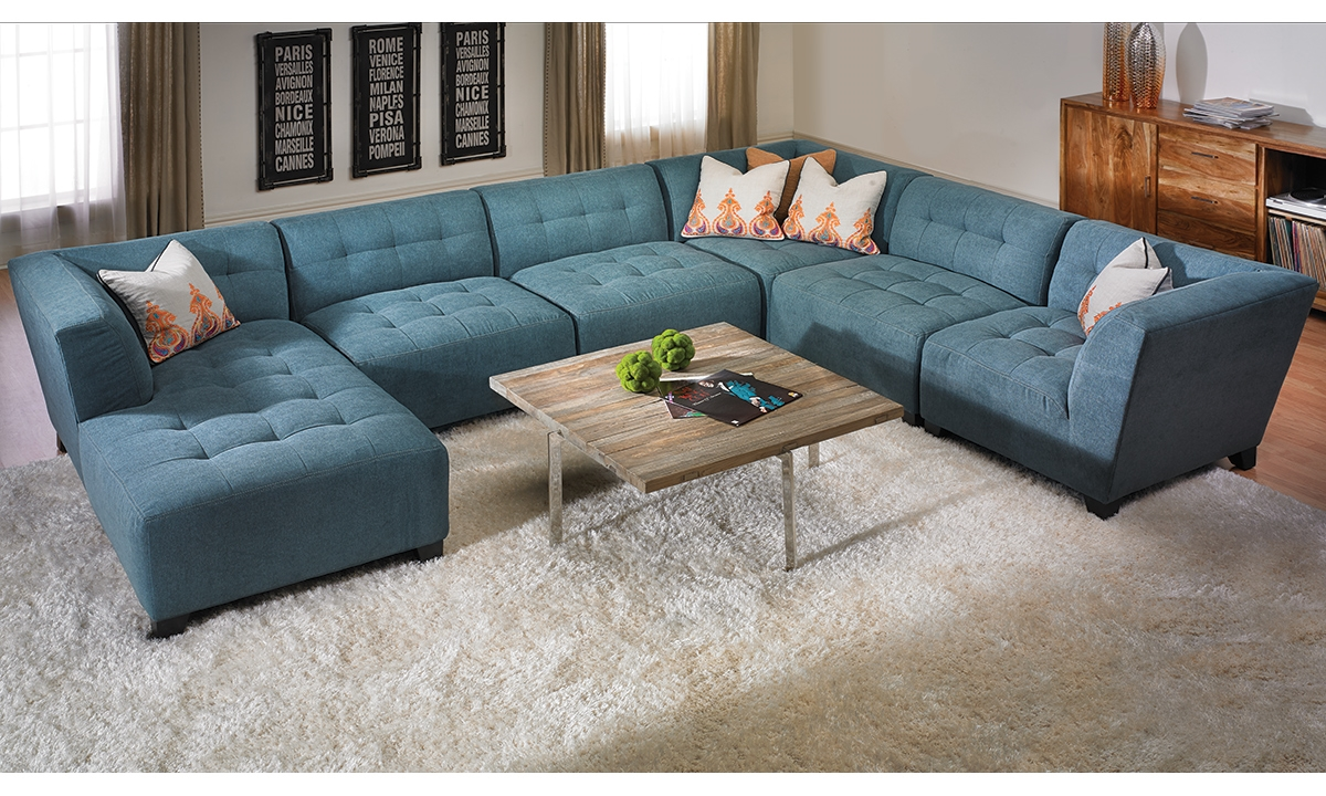 Belaire Tufted Contemporary Modular Sectional Haynes Furniture