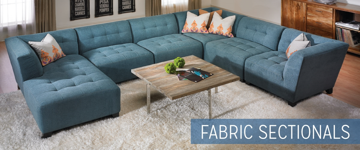Fabric Sectional Sofas - Living Room Furniture