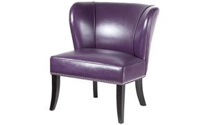 Picture of Hilton Armless Accent Chair with Nail Head Trim