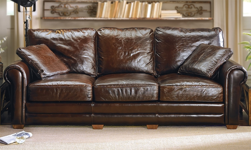 Picture of Cigar Leather Sofa