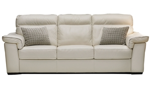 Picture of Natuzzi 92-Inch Handmade Top-Grain Leather Sofa