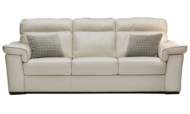 Natuzzi 92-Inch Handmade Top-Grain Leather Sofa