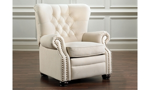 Picture of Montegue Tufted Linen Pushback Recliner