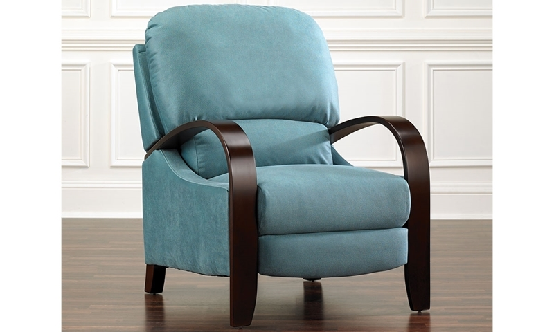 Modern Pushback Recliner in Blue