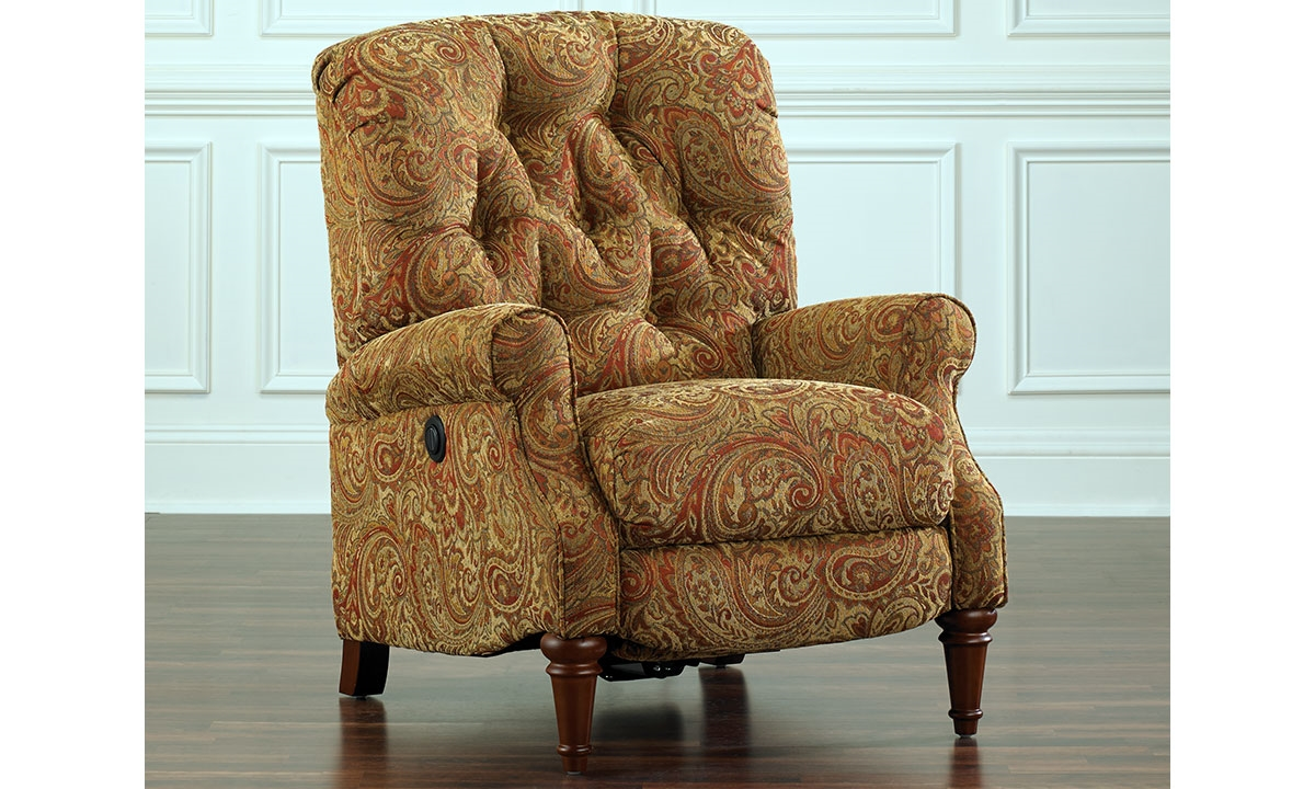 paisley power reclining arm chair