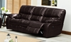 Brown Leather Gel Power Recliner Sofa