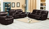 Brown Leather Gel Power Reclining Sofa Set