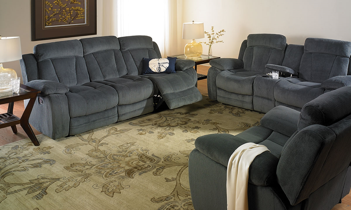picture of handmade american oasis dual reclining sofa