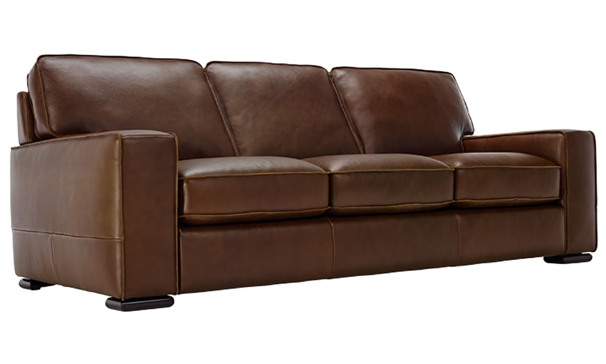 Top grain leather sofas leather sofa full grain and top at for Furniture leather sofa