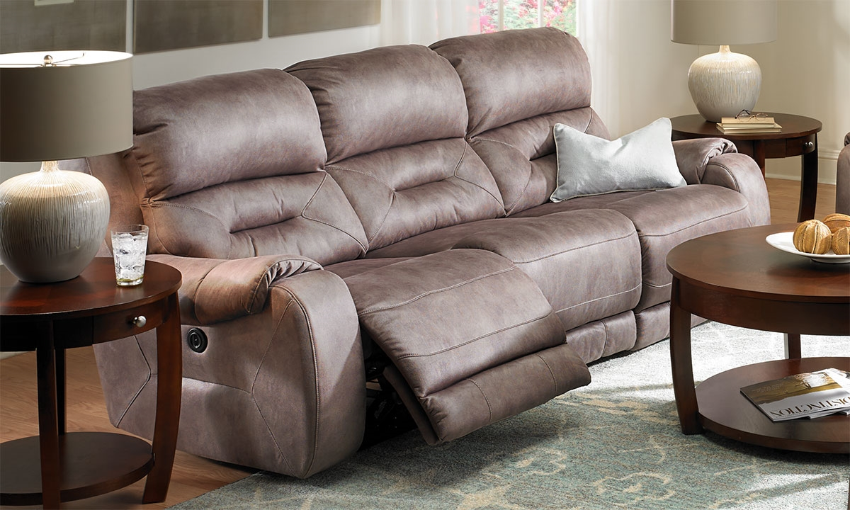picture of triple power reclining sofa - Power Recliner