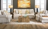 Two Lanes Natural Sofa Set with Slipcovers - Yellow Living Room shot