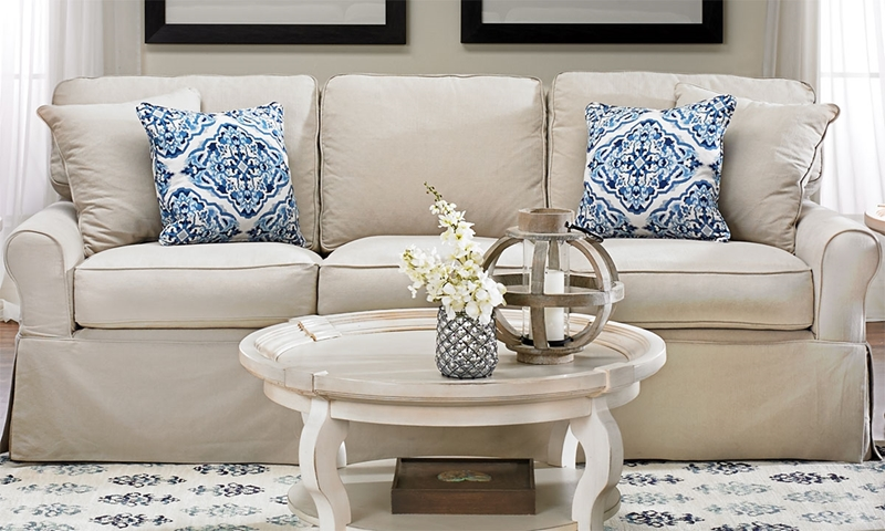 Picture of Two Lanes: Montague Slipcover Queen Sleeper Sofa
