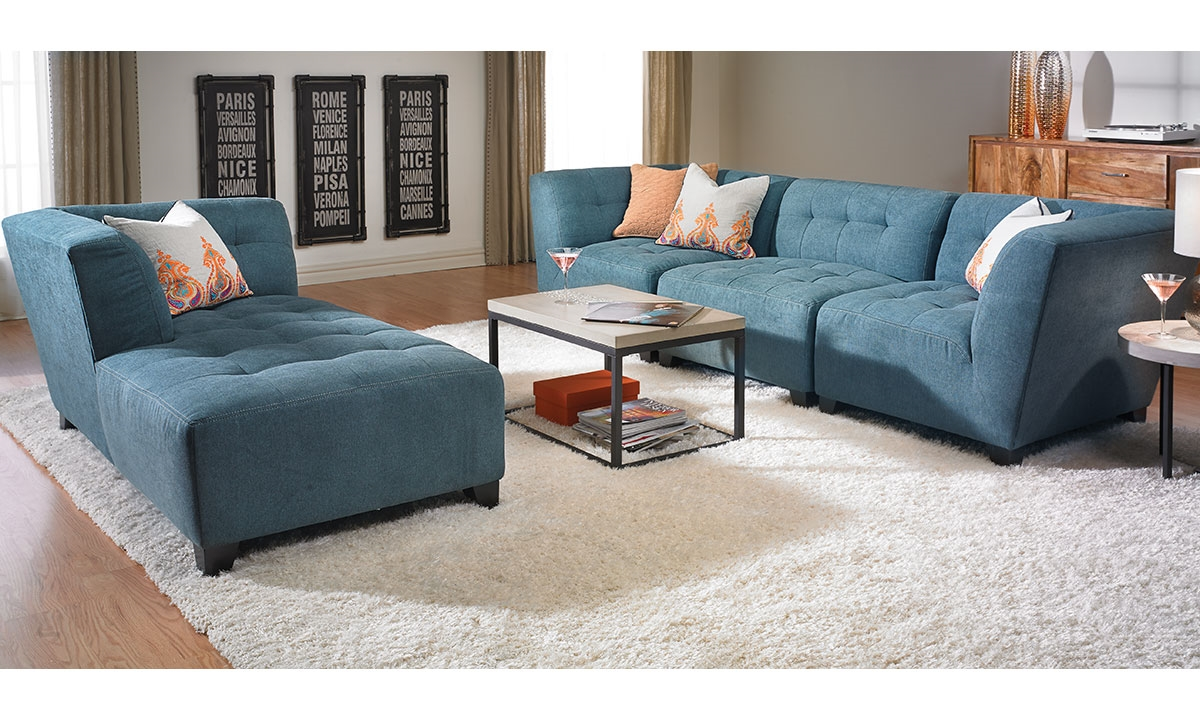 modular living room furniture haynes furniture belaire contempoary modular sofa with chaise 12233