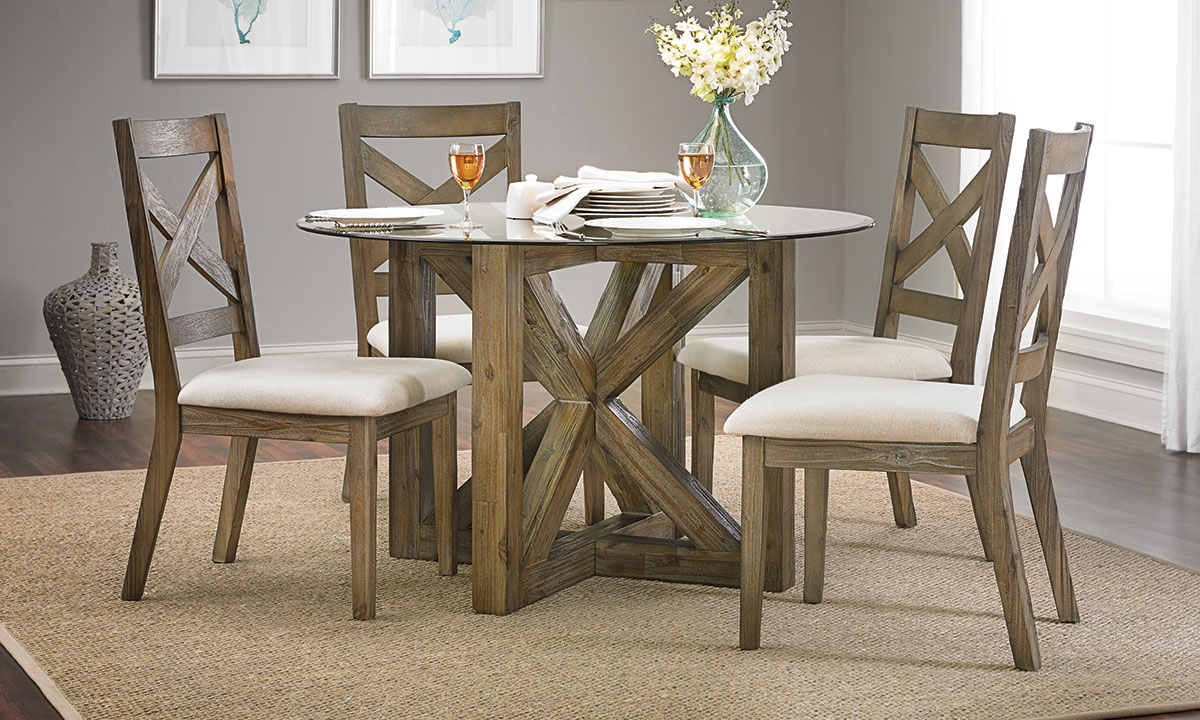 hampton cottage solid acacia glass dining set haynes furniture picture of hampton cottage solid acacia glass dining set