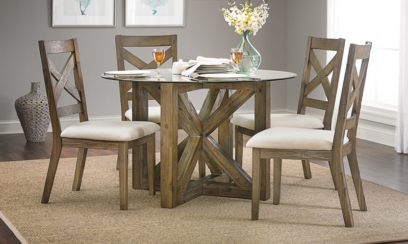 Picture of Hampton Cottage Solid Acacia & Glass Dining Set
