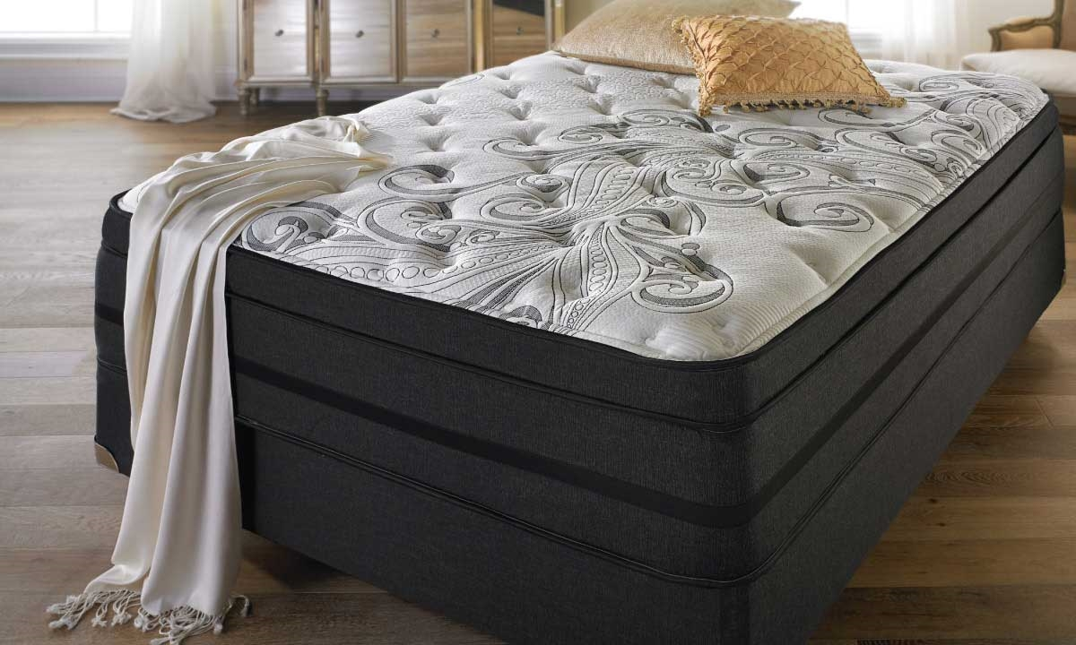 picture of limited edition silver dream plush pillow top mattress