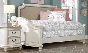 Picture of Madison Upholstered Antique White Traditional Twin Day Bed