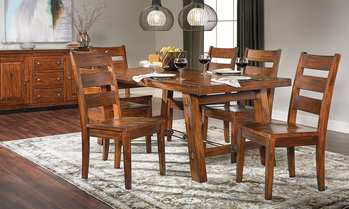 Haynes furniture tuscany mahogany dining set for Mahogany dining room furniture