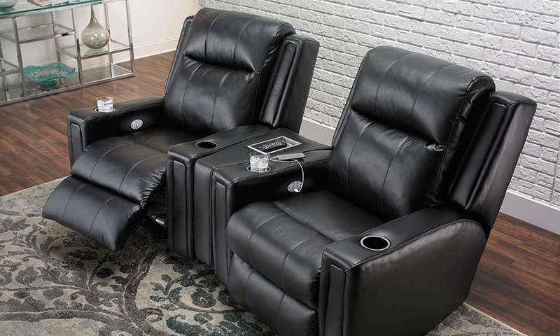 Picture of Davidson Power Reclining Home Theater with USB