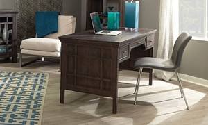 Picture of 3-Drawer Shiitake Writing Desk
