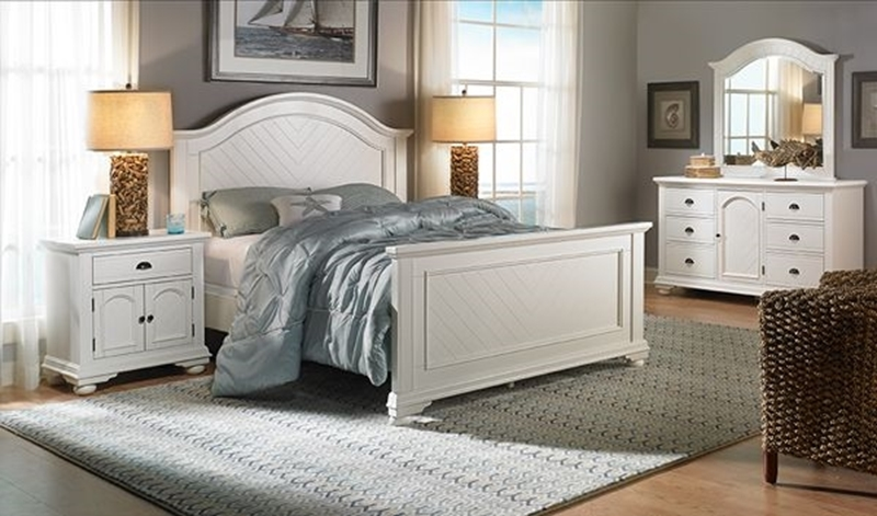 Picture of Brookside Antique White Queen Panel Bed