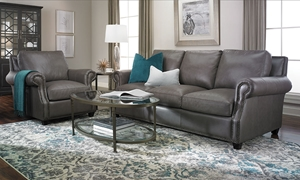 Picture of Rocky Mountain Leather: Prime Top-Grain Leather Sofa