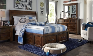 Picture of Solid Wood Twin Storage Bedroom