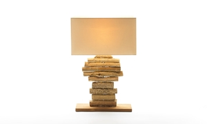 Picture of Linera Wood Sculpture Table Lamp
