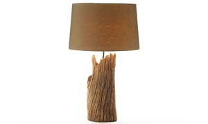Picture of Aspen Primitive Wood Table Lamp