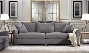 Picture of Leo Linen Blend Sofa in Grey
