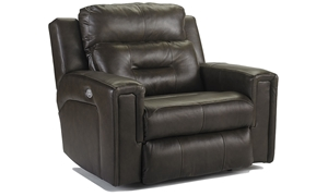 Picture of Power Reclining Leather Recliner with Power Headrest