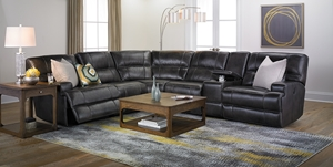 Picture of Era Nouveau Top-Grain Power Reclining Sectional