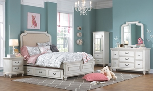 Picture of Madison Upholstered Twin Panel Bed