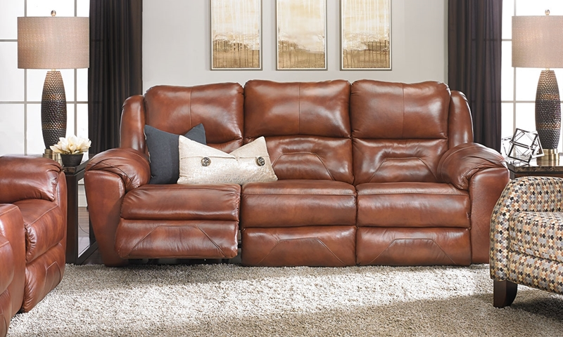 Infinite Motion 92 Inch Power Reclining Leather Sofa