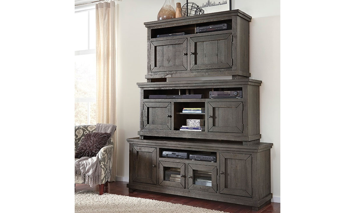 Picture Of Slate Grey Willow Media Cabinet 54u201d
