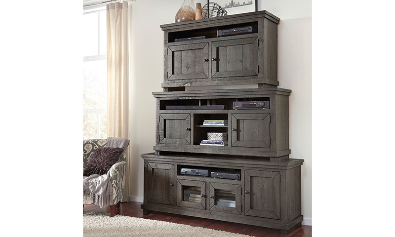 Picture of Slate Grey Willow Media Cabinet 54""