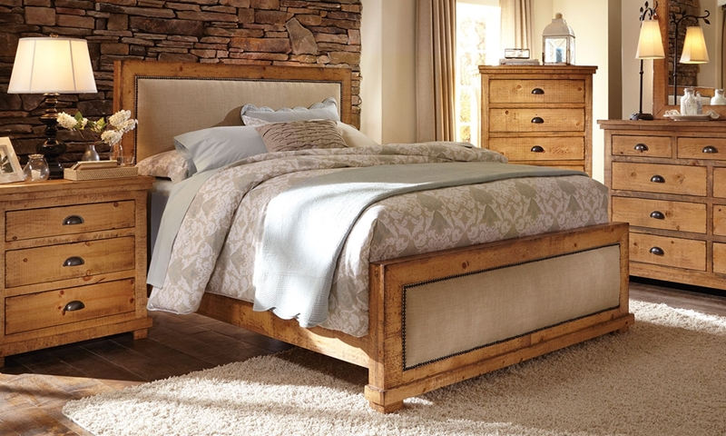 Picture Of Willow Pine Linen Rustic Queen Bed