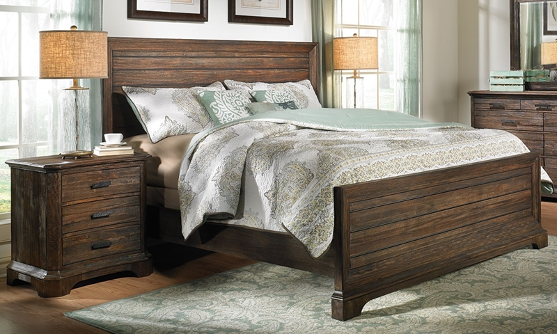 Picture of Woodland Handmade Solid Mahogany Queen Bed