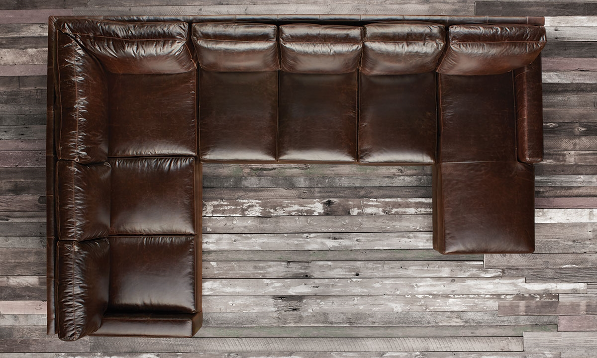 Mayfair Deluxe Brompton Leather Sectional Haynes Furniture