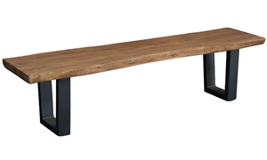 Picture of Live Edge Solid Acacia & Iron Bench