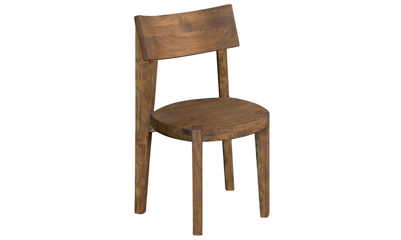 Picture of Round Solid Acacia Side Chair