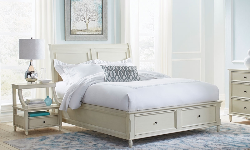 Picture of Avignon Ivory Full Storage Bed