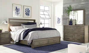 Picture of Aspenhome Modern Loft Queen Storage Bedroom