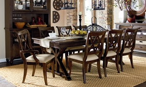 Picture of Thatcher 5-Piece Trestle Table Dining Set