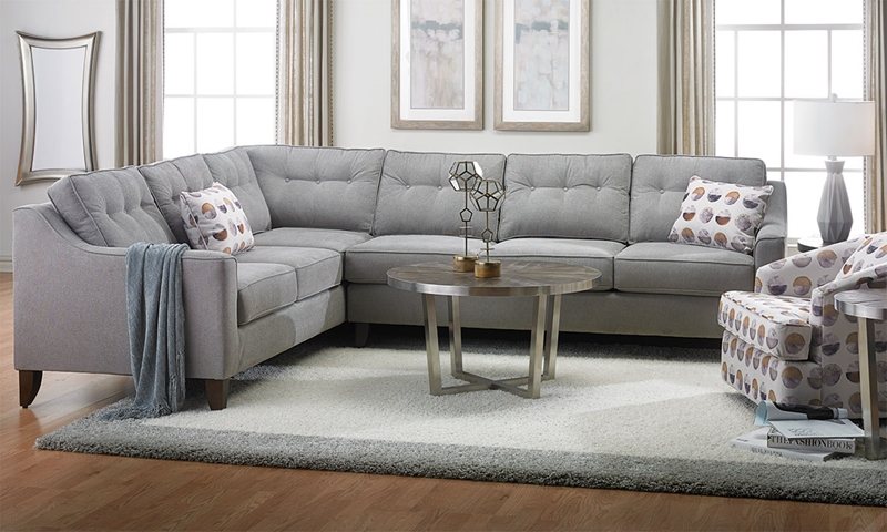Haynes Furniture Klaussner Audrina Tufted Track Arm Sectional