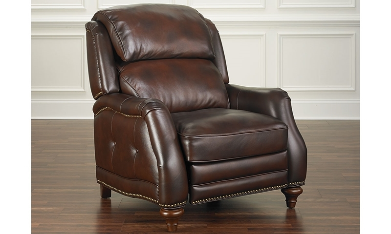 Picture of Leather English Roll Arm Pushback Recliner