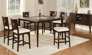 Picture of Merlot Contemporary Counter Height Dining Set
