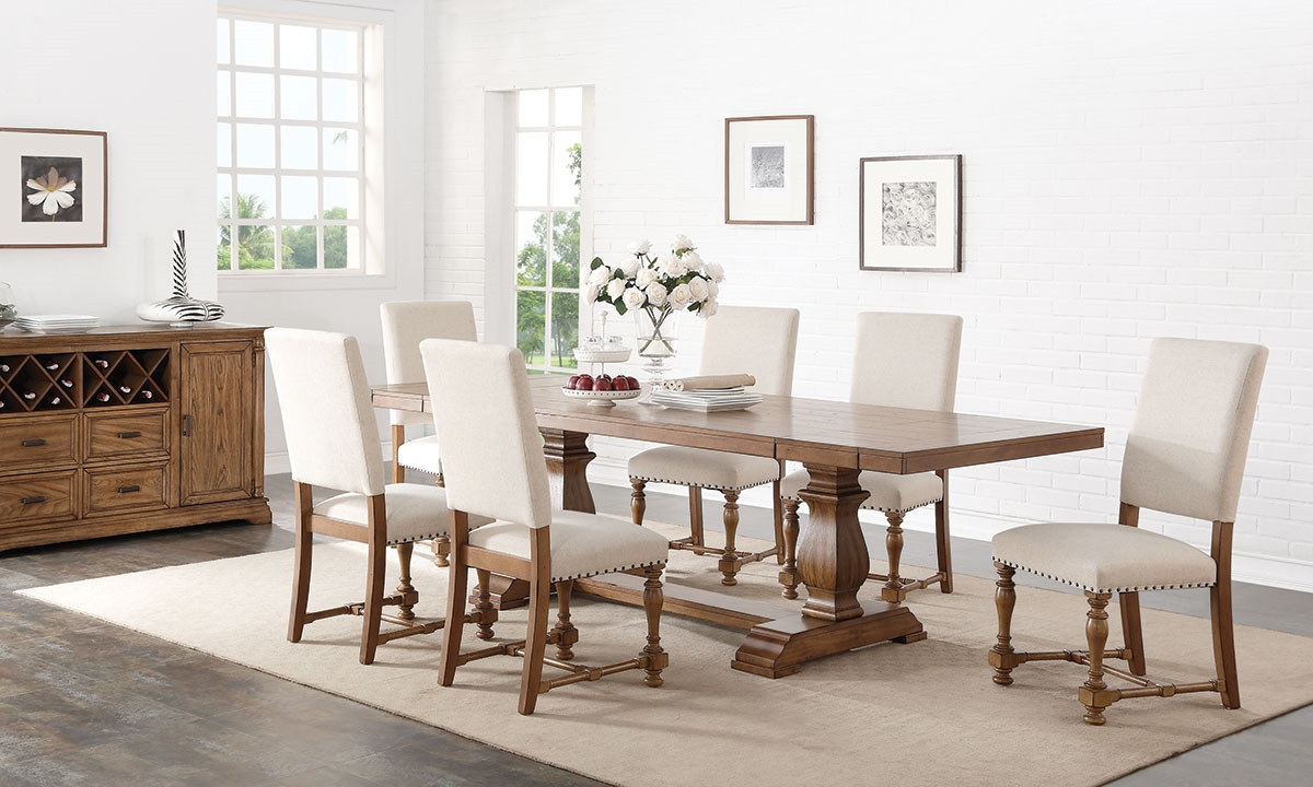 7 Piece Country Chic Dining Set