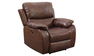 Picture of Leather Power Recliner with Pillowtop Arms