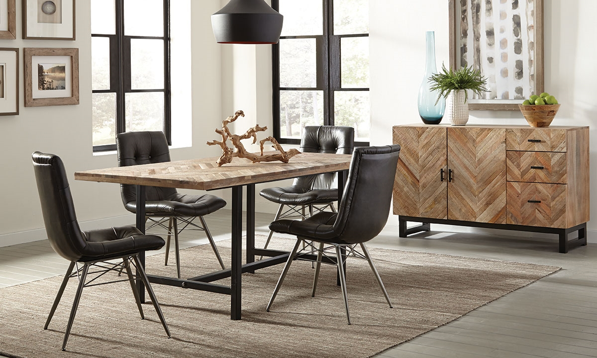 Scott Living Modern Rustic Dining Set Haynes Furniture